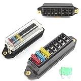 Caja de fusibles 8way para base de bloque de soporte de Fusible de cuchilla ato estándar/entrada