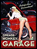 Sexy Garage Schild Fett Monkey Garage Retro Vintage Metall blechschild Wandschild Neuheit Geschenk
