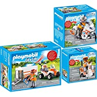 Playmobil® City Life 3 pcs. Set 70051 70052 70053 Emergency motorcycle + Scooter + Quad