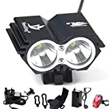 Best Bicycle Lights 5000 Lumens Rechargeables - Nestling® 5000Lm Bike Lights Cree X2 LED Mount Review