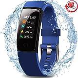 Morepro étanche Fitness tracker, écran couleur suivi d'activité avec la fréquence cardiaque moniteur de pression sanguine, Wearable Smart montre bracelet podomètre avec moniteur de sommeil pour femme homme enfants, bleu