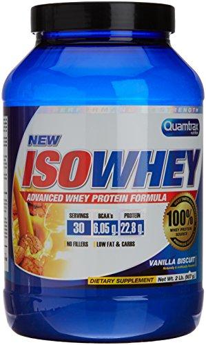 Quamtrax Nutrition Suplemento para Deportistas Isowhey, Sabor Vanilla Biscuit - 907 gr
