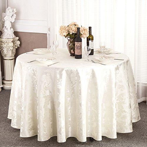 Nappe de table *linge de cuisine Nappe ronde, table de café de l'hôtel, tablette de table, ronde (Couleur : Beige, taille : Round-180cm)