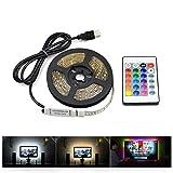 Murieo Lámpara LED de Control Ambiental para Tiras de linternas de TV LED Luces de Tira de LED de música de Fondo Luz Decorativa con Tira de luz rítmica de LED