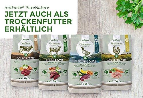 AniForte® PureNature Nassfutter 6x400g Hundefutter- Naturprodukt für Hunde - 6