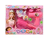 #8: Dora Beauty Queen Doll With Makeup Kit In Carry Bag