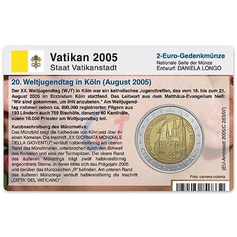 Piece 2 Euros Vatican - Carte Porte-monnaie (sans pièce) pour de 2euro