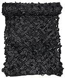 Filet de camouflage, 3 x 2 m, 'Basique', avec Sac de transport PVC, disponible en différentes couleurs - noir