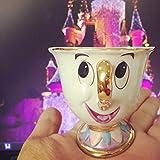 HSXOT Conjunto De Taza De Tetera De La Bella Y La Bestia De Dibujos Animados Regalo De Porcelana 18K Chapado En Oro Pintado Esmalte Taza De Cerámica