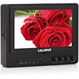 LILLIPUT 7'' 665GL-70NP / HO / Y Color TFT LCD Monitor With HDMI, YPbPr, AV Input HDMI Output / With F-970 & QM91D Battery Plate + Sun Shade Cover / for DSLR Camera With HDMI Port / Such as: Canon 5D II / 5D III / 7D / Nikon D800 / D800E / D7000 D4 Camera etc