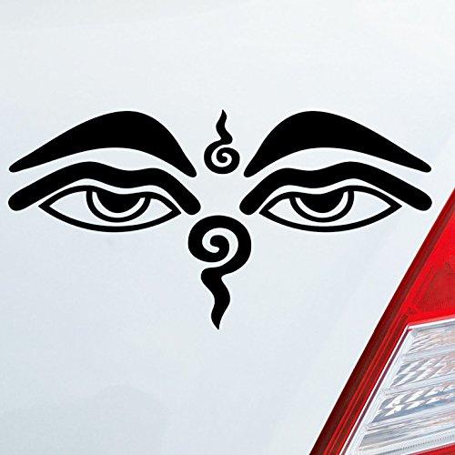 iner Wunschfarbe Buddhismus Sehendes Auge Eye Buddha Asien 12x6 cm Autoaufkleber Sticker ()