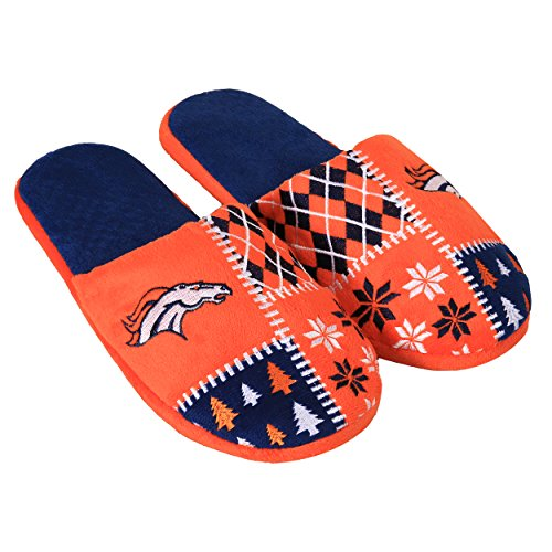 Forever Collectibles NFL Denver Broncos Unisex Ugly Slide Slipper Extra Large, X-Large