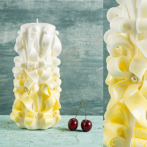 unity-decorative-carved-candle-white-and-yellow-gentle-colors-unity-gift-ideas-evecandles
