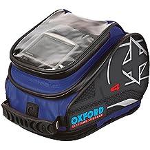 ol277–Oxford moto motocicleta x4QR–Bolsa de depósito, color azul