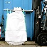 Big Bag 90 x 90 x 110 cm, Schürze, Boden geschlossen, unbeschichtet, uv stabilisiert, 4 Hebeschlaufen, SWL 2000 kg, SF 5:1