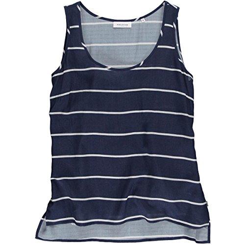 Greystone Damen Top 30100147 Alloverdruck blau gestreift 59E