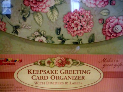 KEEPSAKE GREET CARD ORGANIZER w/Dividers & Labels by Factory Card & Party Outlet