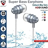 #6: Amore Stereo Earphone Hands-Free 3.5Mm Jack In-Ear Super Extra Bass Headphone Headset With Mic Compatible with Samsung, Motorola, Sony, Oneplus, HTC, Lenovo, Nokia, Asus, Lg,Oppo,Vivo, Coolpad, Xiaomi, Micromax and All Mobiles