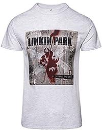 Linkin Park Patches Camiseta Gris/Melé