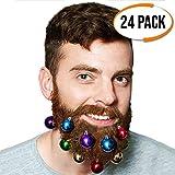 Weihnachtliche saisonale bunte Bart kugeln - Einzigartiges weihnachten geschenk für männer - weihnachtskugeln Ideale Strumpffüller und zum Anhängen an Ihren Bart! Spaß für Dekoration und Verkleiden.