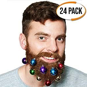 Boules Pince de Noël Colorées pour Barbe Accessoire - Idee cadeau grand pere - pour Remplir vos Chaussettes de Noel et à Accrocher dans votre Barbe ! Amusant pour les fêtes, les décorations