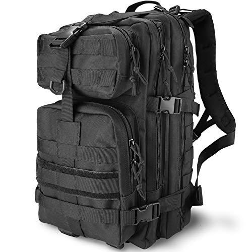 Procase Zaino Tattico Militare 35 Litri, Assault Backpack Grande capacità Zaini 3 Day Assault Bag dell'Esercito Zaino per Caccia, Trekking e Campeggio e Altre attività All'aperto -Nero