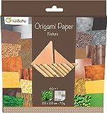 Avenue Mandarine 52503MD - Un paquet de 60 feuilles Origami 20x20 cm 70G (30 motifs x 2 feuilles) et une planche de stickers incluse, Nature