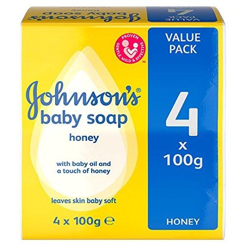 Johnson's Baby Soap Bar Honey 4X100g