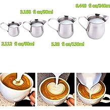 Para hacer espuma de leche de acero inoxidable jarra café Latte taza drum-shape pulido jarra taza de leche para cocinar al vapor