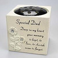 Angraves Special Dad Diamante Graveside Memorial Flower Pot Grave Vase Memorial Garden