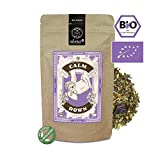 alveus® Calm Down Herbal BIO: Lose Teemischung mit Melisse, Fenchel, Süßholzwurzel, Rosmarin, Salbei, Lavendel, Hopfenblüten, Baldrian, 100g Tüte