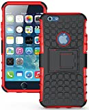 Best I Phone 6 Hard Case - Heartly Flip Kick Stand Spider Hard Dual Armor Review