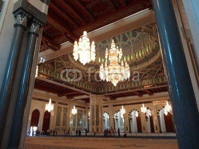 Sultan Qaboos Grand Mosque Qabus Mosquée Muscat Oman Mascate (63896738), Aluminium-Dibond, 120 x 90