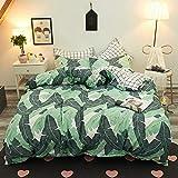 Grüne drei oder vier Sätze von Studenten Einzelbett Einzelbettbezug kleinen frischen orientalischen Charme 1,8 m