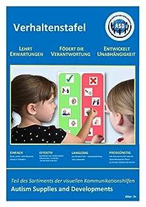 Autism Supplies And Developments-Tabla de visualización de Comportamiento Visual de plástico (alemán) (DE_BC)