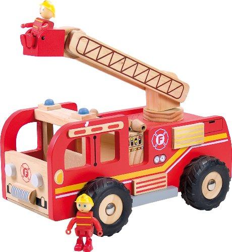 Ulysse - 3503 - Véhicule Miniature - Camion de Pompier en bois