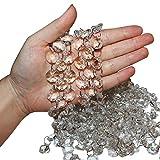 Set Perline Cristallo Catena (confezione da 6-1 m Lunga)- larga 1.5 cm Perline Cristallo Vetro Trasparente Forma Ottagonale Lampadario, Tende, Decorazioni Matrimonio, Creazione Bracciali, Gioielli