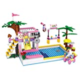 #2: Webby Dream Girls Swimming Pool Toy Building Set, 302 Pieces