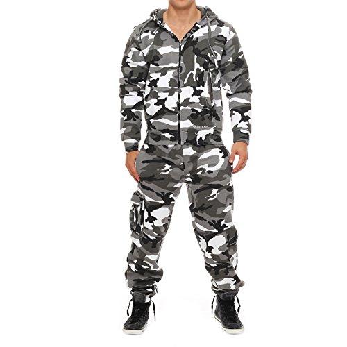 1B5 Drying Jumper Herren Camouflage Jogging Anzug Urban Gr. S (Camouflage Urban)