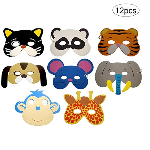 Reinigen Statische Kostüm - 12PCS / Set-Tier-Kind Masken Eva-Schaum-Masken Party Supplies-Pack Photo Booth Dress-Up-Kostüm-Party-Bevorzugungen Geburtstag Goodie Taschen für Kids