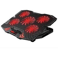 AScooler 12-17 inch Gaming Ordinateur Portable Refroidisseur de Refroidissement Pad, Tout à Fait Ventilateurs, Vent Fort conçu pour Le Jeu et Le Bureau, Radiateur d'ordinateur portatif