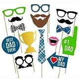 Best Dads Bonus - Bdecoll 15 Pcs Photo Booth Stick bonus per Review