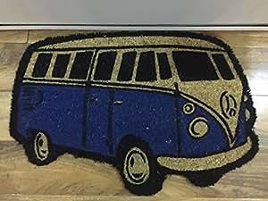 Paillasson, motif VW Camping-car Bleu