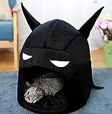 Komener Abnehmbare und waschbar Cartoon Batman Warm Hund Haus Haustier Nest Cat Bed Black Pet Sofa