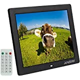 "Andoer 12"" HD LED Marco de Fotos Digital 800 * 600 Reproductor de MP3 MP4 Video E-libro Reloj Calendario con Control Remoto"