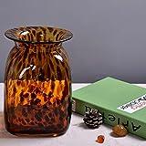 American Brown Glasvase Blumenvase Kleine Dekoration/Spotted/Retro,15*15*21.5CM