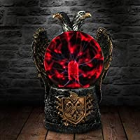 YAOJIA Table Lamp Imperial Two Headed Eagle Novelty Desk Lamp Plasma Ball Dicephalous Bald Eagle Night Light Mood Lamp Figurine Sculpture Halloween Crystal Light ,gift
