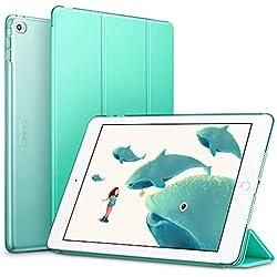ESR iPad Air 2Coque, Ultra Fin Coque Cuir PU avec Fonction de Sommeil et réveil Automatique magnétique pour iPad Air 2/iPad 6ème génération (Vert Menthe)