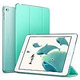 ESR iPad Air 2 Hülle, Auto Aufwachen/Schlaf Funktion Wickelfalz Ledertasche mit Lichtdurchlässig Rückseite Abdeckung Schutzhülle für iPad Air 2 (MintGrün)