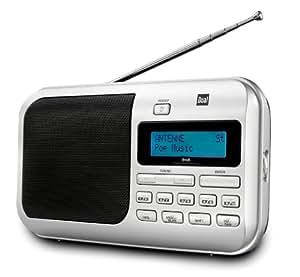 Dual DAB 4 Tragbarer Digitalradio (DAB+/UKW-Tuner, Kopfhöreranschluss) silber